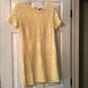 Yellow Crochet Knit Dress